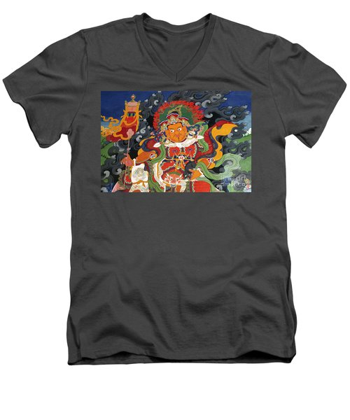 Men's V-Neck T-Shirt featuring the photograph Ladakh_17-15 by Craig Lovell