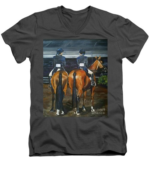 Ladies At Sussex Hunt Night Men's V-Neck T-Shirt