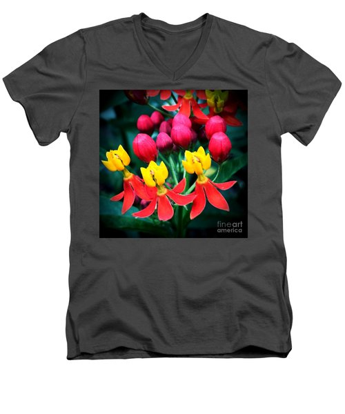 Men's V-Neck T-Shirt featuring the photograph Ladies In Waiting by Vonda Lawson-Rosa