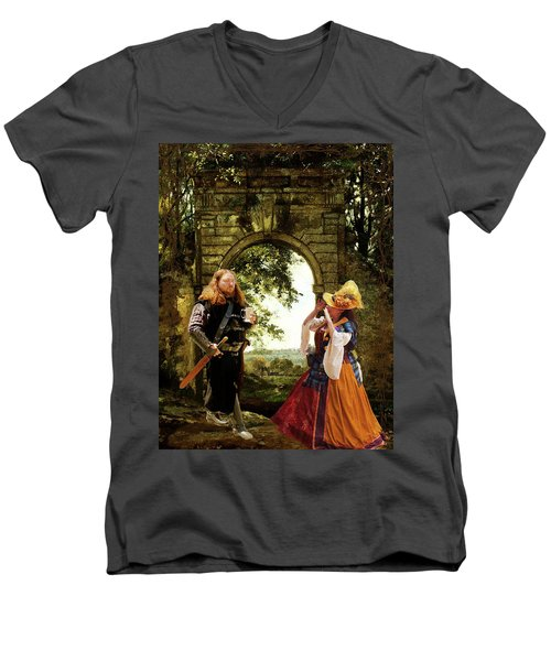 Lady At The Gate Men's V-Neck T-Shirt
