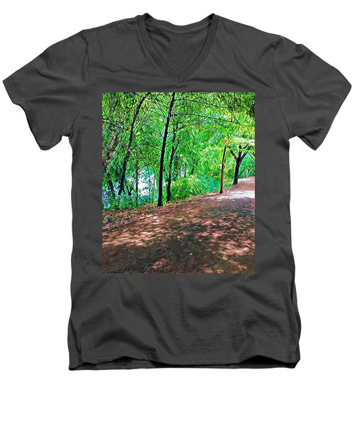 Lady Bird Trail Men's V-Neck T-Shirt