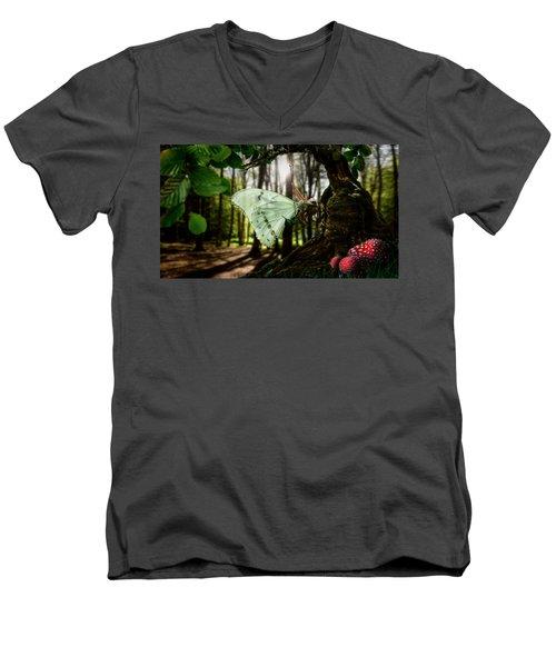 Lady Butterfly Men's V-Neck T-Shirt