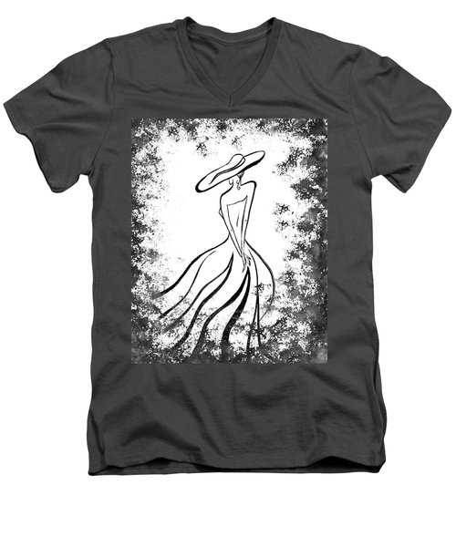 Lady Charm Men's V-Neck T-Shirt by Irina Sztukowski