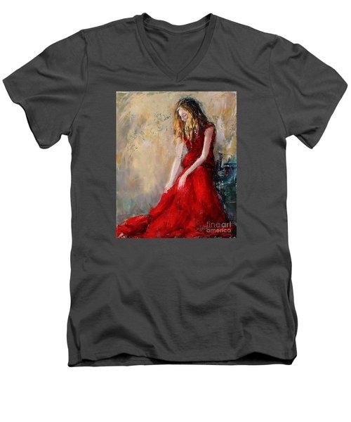 Lady In Red 2 Men's V-Neck T-Shirt