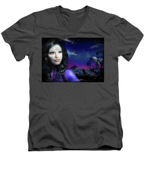 Lady Moon Men's V-Neck T-Shirt