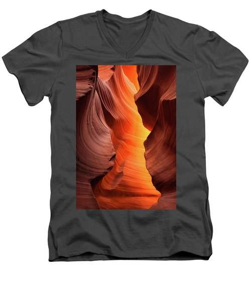 Men's V-Neck T-Shirt featuring the photograph Lady Of The Flame by Darren White
