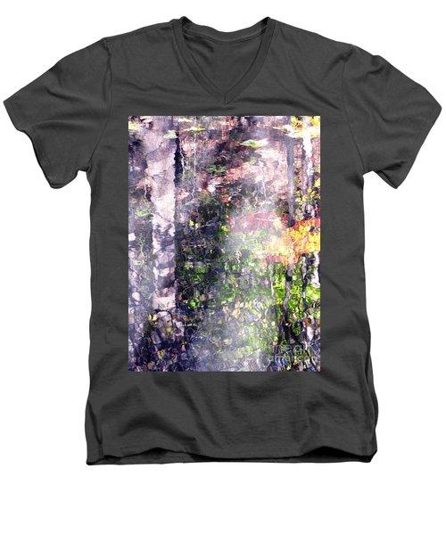Lady On Water Men's V-Neck T-Shirt by Melissa Stoudt