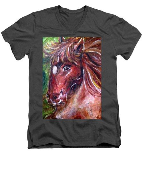 Lady Men's V-Neck T-Shirt