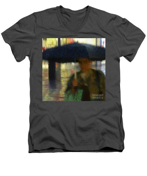 Lady With Umbrella Men's V-Neck T-Shirt