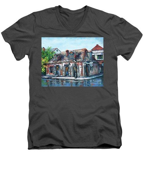 Lafitte's Blacksmith Shop Men's V-Neck T-Shirt