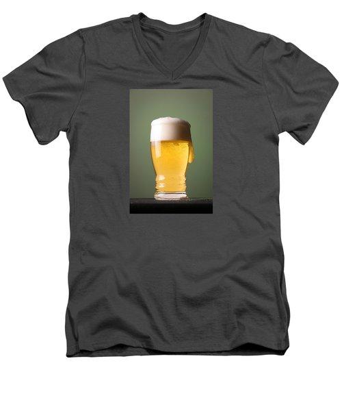 Lager Beer Men's V-Neck T-Shirt by Silvia Bruno