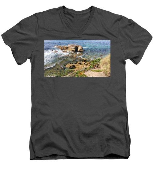 Laguna Beach California Men's V-Neck T-Shirt