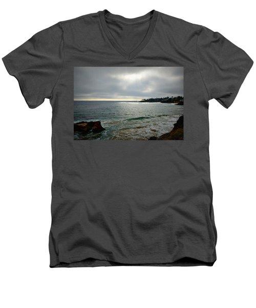 Laguna Beach Sunset Men's V-Neck T-Shirt