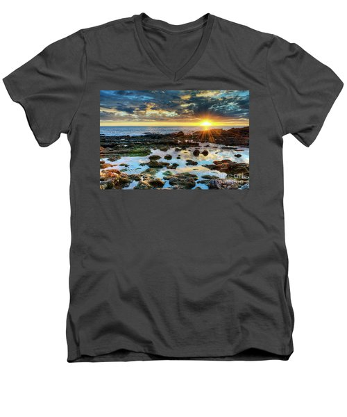 Men's V-Neck T-Shirt featuring the photograph Laguna Beach Tidepools by Eddie Yerkish