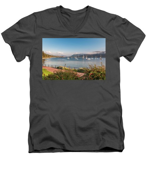 Men's V-Neck T-Shirt featuring the photograph Gulf Of  Ullapool  - Photo by Sergey Simanovsky