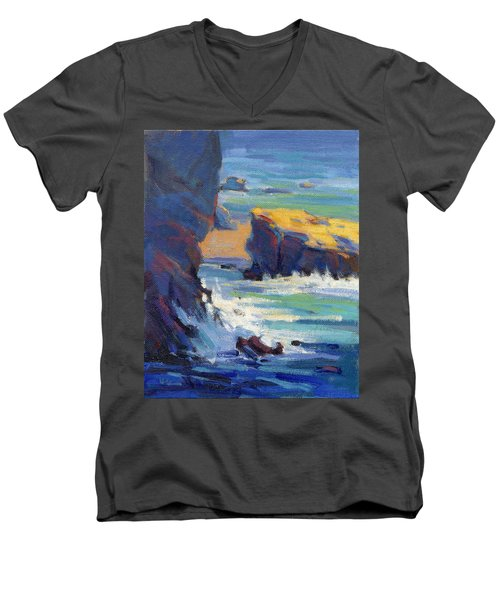 Laguna Rocks Men's V-Neck T-Shirt
