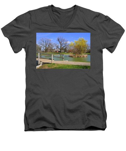 Lake At Schiller Park Men's V-Neck T-Shirt