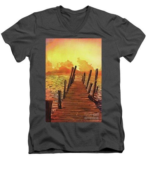 Lake Atitlan- Guatemala Men's V-Neck T-Shirt by Ryan Fox