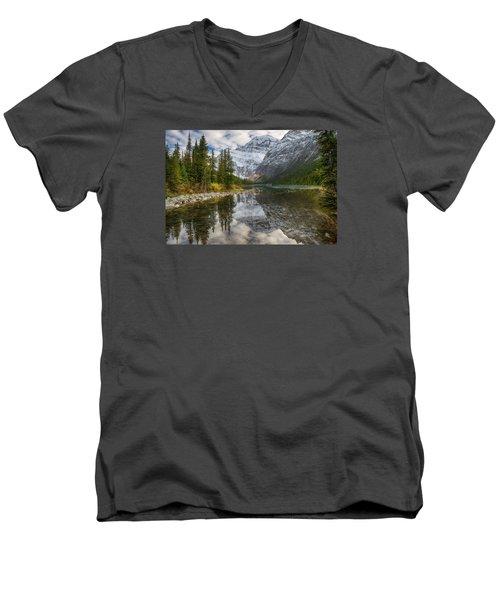 Lake Cavell Men's V-Neck T-Shirt by John Gilbert
