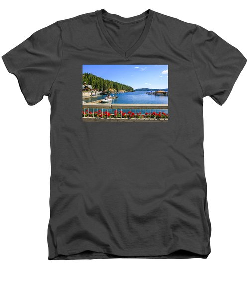 Lake Coeur D'alene Men's V-Neck T-Shirt