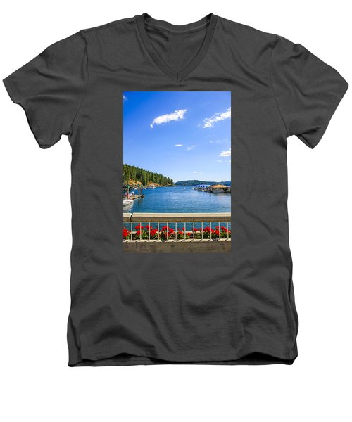 Lake Coeur D'alene Idaho Men's V-Neck T-Shirt