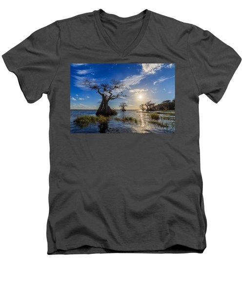 Lake Disston Cypress Paradise Men's V-Neck T-Shirt