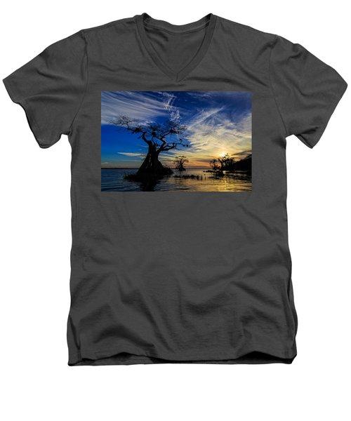 Lake Disston Sunset Men's V-Neck T-Shirt