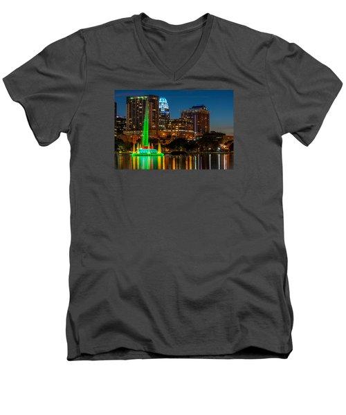 Lake Eola Fountain Men's V-Neck T-Shirt