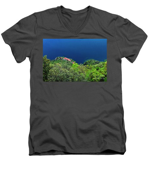 Lake Garda  Men's V-Neck T-Shirt by Maja Sokolowska