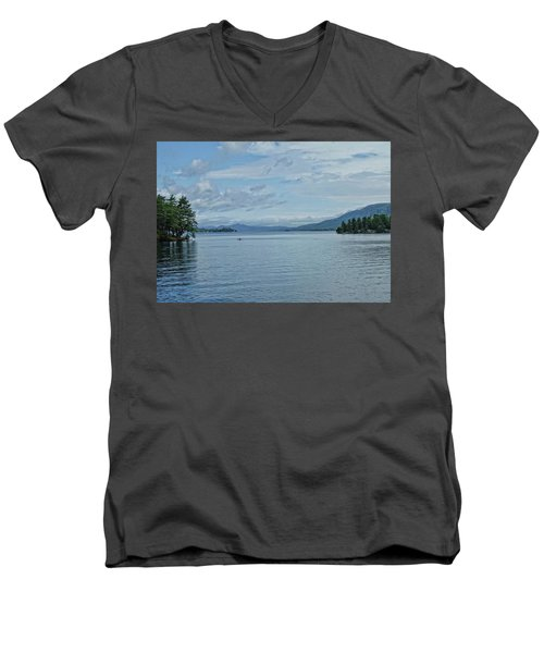 Lake George Kayaker Men's V-Neck T-Shirt