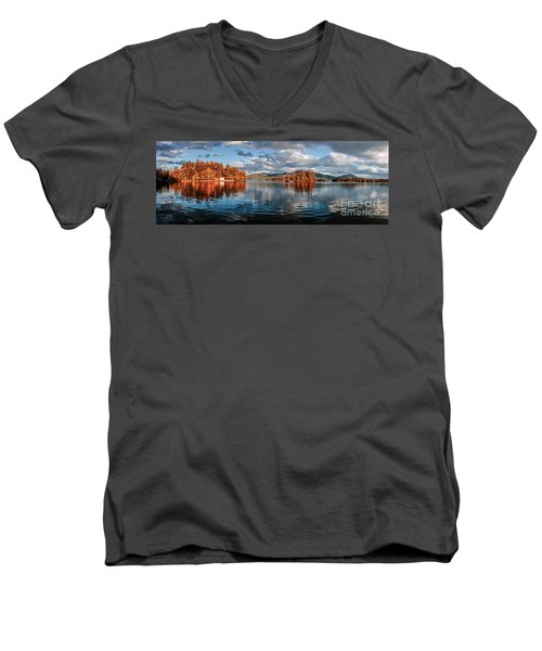 Lake George Panorama  Men's V-Neck T-Shirt