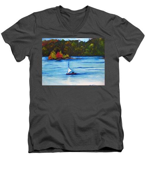 Lake Glenville  Sold Men's V-Neck T-Shirt by Lil Taylor