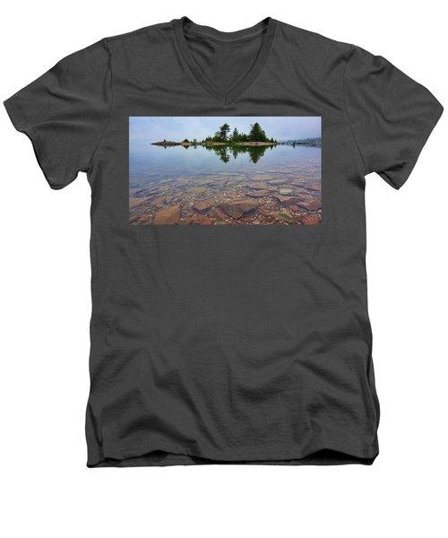 Lake Huron Island Men's V-Neck T-Shirt