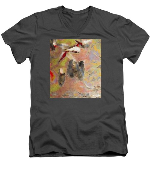 Men's V-Neck T-Shirt featuring the photograph Lake Life by William Wyckoff