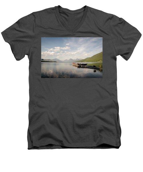 Lake Mcdonald Men's V-Neck T-Shirt