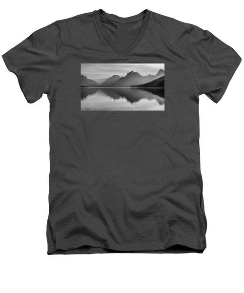 Lake Mcdonald Men's V-Neck T-Shirt by Monte Stevens