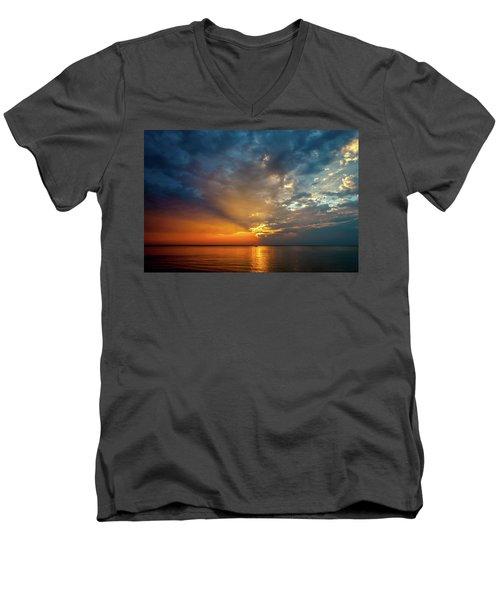 Lake Michigan Sunset Men's V-Neck T-Shirt