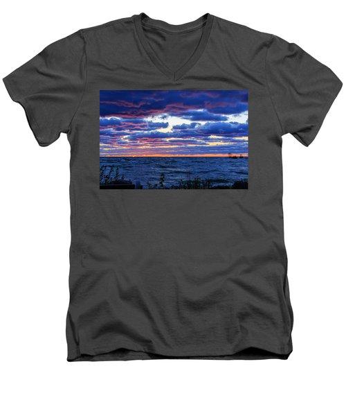 Lake Michigan Windy Sunrise Men's V-Neck T-Shirt