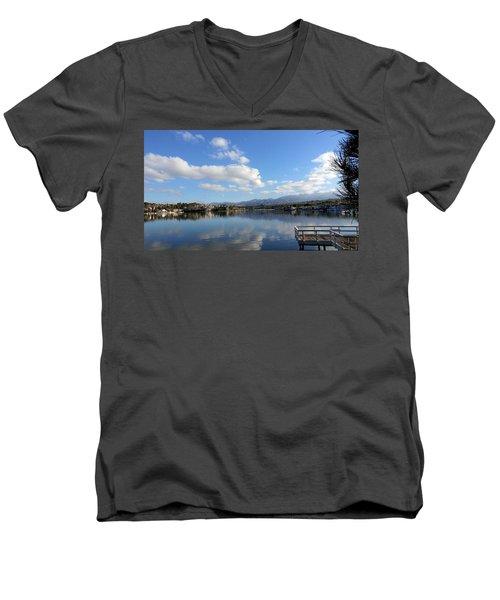 Lake Mission Viejo Cloud Reflections Men's V-Neck T-Shirt