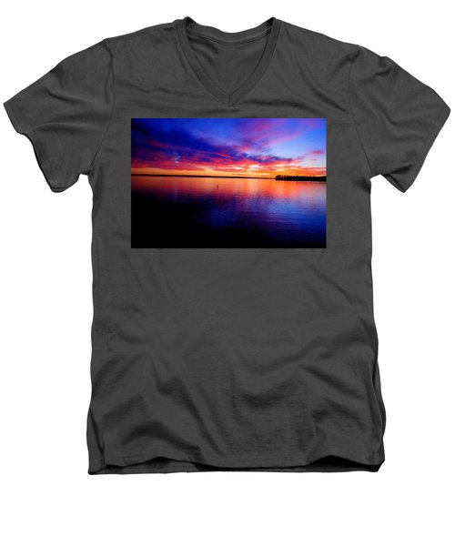 Lake Murray Sunset 21 Men's V-Neck T-Shirt