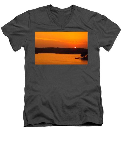 Lake Of The Ozarks 1 Men's V-Neck T-Shirt by Don Koester