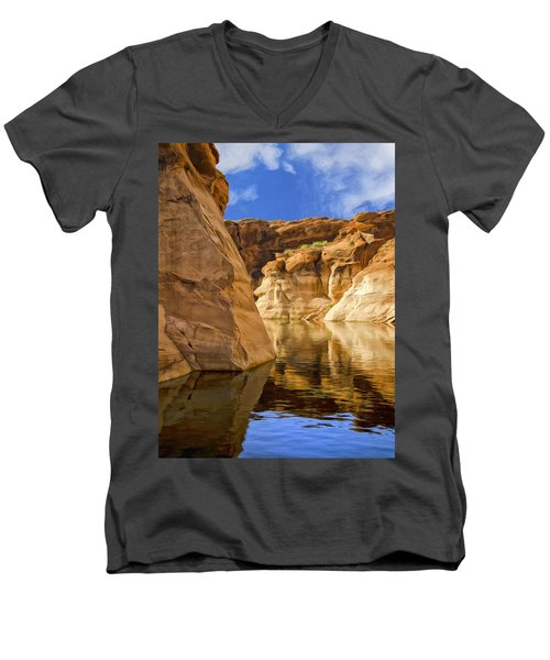 Lake Powell Stillness Men's V-Neck T-Shirt by Dominic Piperata