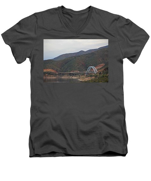 Lake Roosevelt Bridge 2 Men's V-Neck T-Shirt