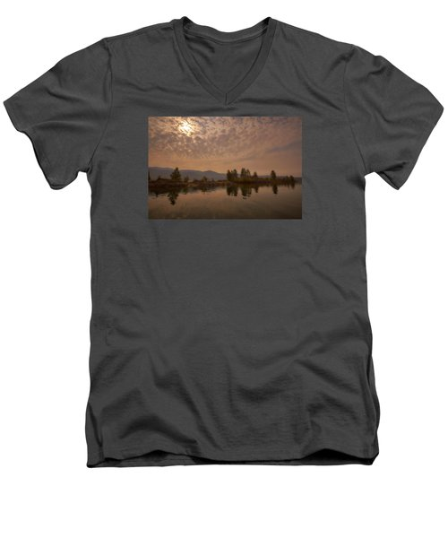 Lake Roosevelt Washington2 Men's V-Neck T-Shirt