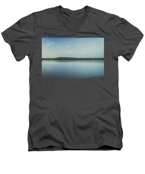 Lake Scene Men's V-Neck T-Shirt by Scott Meyer
