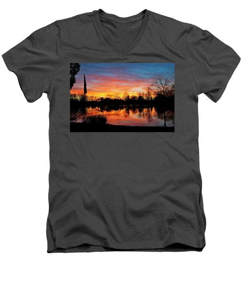 Lake Shangrila Men's V-Neck T-Shirt