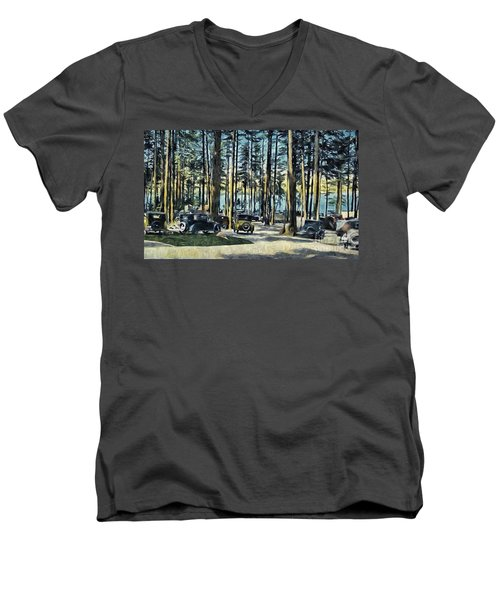 Lake Shore Park - Gilford N H Men's V-Neck T-Shirt