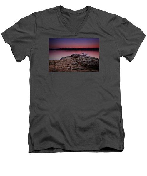 Lake Sunset Viii Men's V-Neck T-Shirt