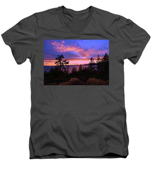 Lake Tahoe Crescendo Men's V-Neck T-Shirt