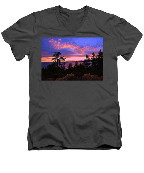 Lake Tahoe Crescendo Men's V-Neck T-Shirt